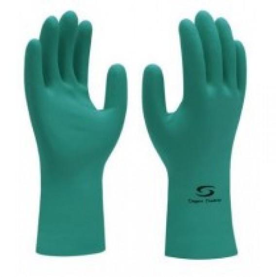 Luva Nitrilica Verde Nitrogreen Safety CA33334